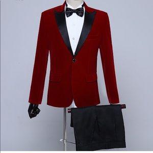 Other - Men's Red Black Tuxedo + Pants
